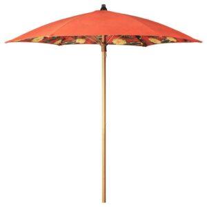 СОЛБЛЕКТ Зонт от солнца, цветочный орнамент оранжевый, 185 см - 704.606.11