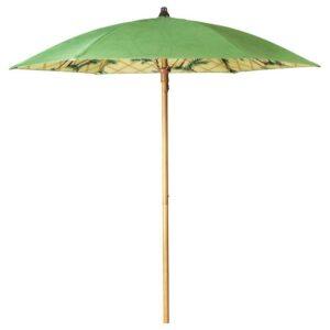 СОЛБЛЕКТ Зонт от солнца, орнамент «пальма» зеленый, 185 см - 304.606.08