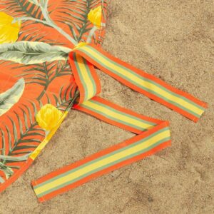 СОЛБЛЕКТ Покрывало для пикника, цветочный орнамент оранжевый, 170 см - 404.604.53