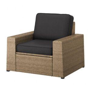 СОЛЛЕРОН Садовое кресло, коричневый, ЙЭРПОН/дувхольмен антрацит - 793.080.30