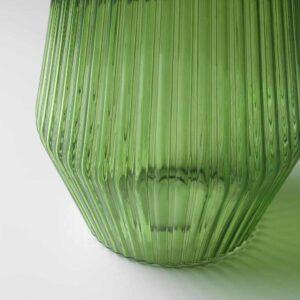 СОЛВИДЕН Напольн светодиод светильник/слн бт, для сада, стекло зеленый, 42 см - 604.540.50