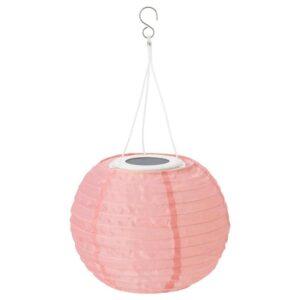 СОЛВИДЕН Подвесная светодиодная лампа, для сада, шаровидный розовый, 22 см - 304.516.61