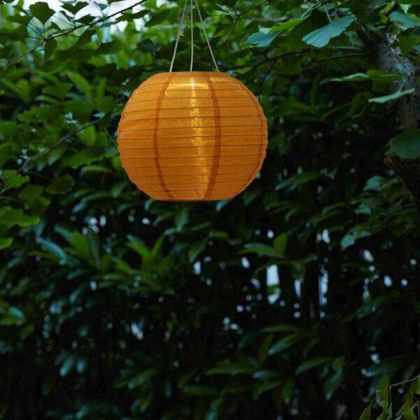 СОЛВИДЕН Подвесная светодиодная лампа, для сада, шаровидный золотой, 30 см - 804.516.73