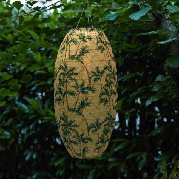 СОЛВИДЕН Подвесная светодиодная лампа, для сада, овал орнамент «пальма», 60 см - 404.516.89