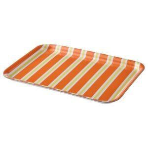 СОММАРЛИВ Поднос, в полоску, оранжевый/желтый, 20x28 см - 504.509.67