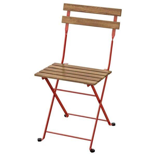 ТЭРНО Садовый стул, складной, красный светло-коричневая морилка - 604.245.72
