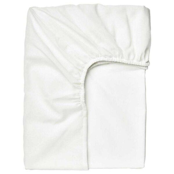 ТАГГВАЛЛЬМО Простыня натяжная, белый, 90x200 см - 904.603.56