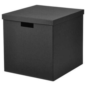 ТЬЕНА Коробка с крышкой, черный, 32x35x32 см - 804.693.00