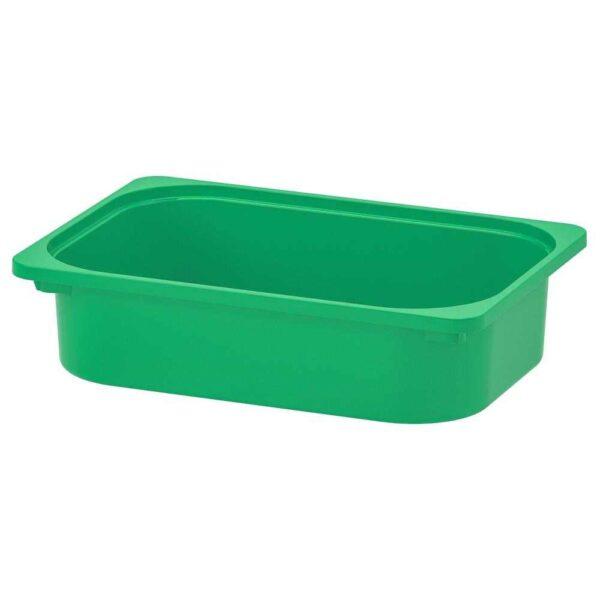 ТРУФАСТ Контейнер, зеленый, 42x30x10 см - 004.662.87