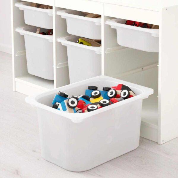 ТРУФАСТ Комбинация д/хранения+контейнеры, белый зеленый, белый, 99x44x56 см - 593.355.34