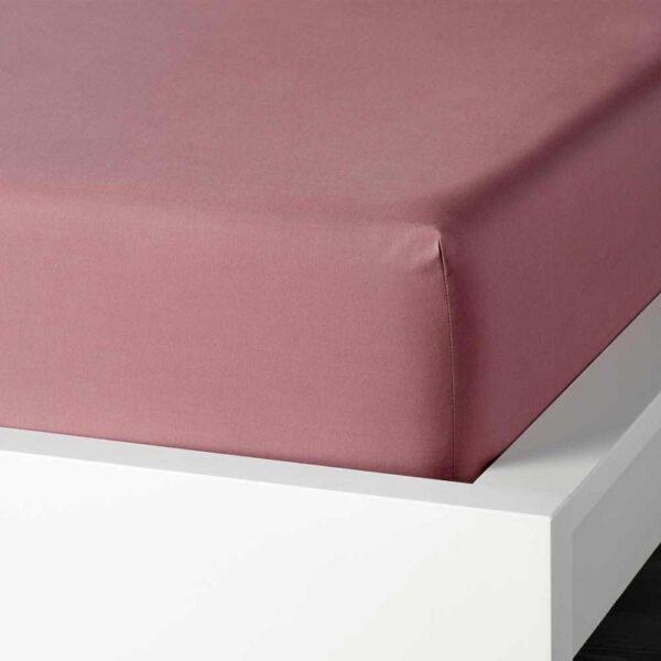 УЛЛЬВИДЕ Простыня натяжная, темно-розовый, 140x200 см - 804.614.55