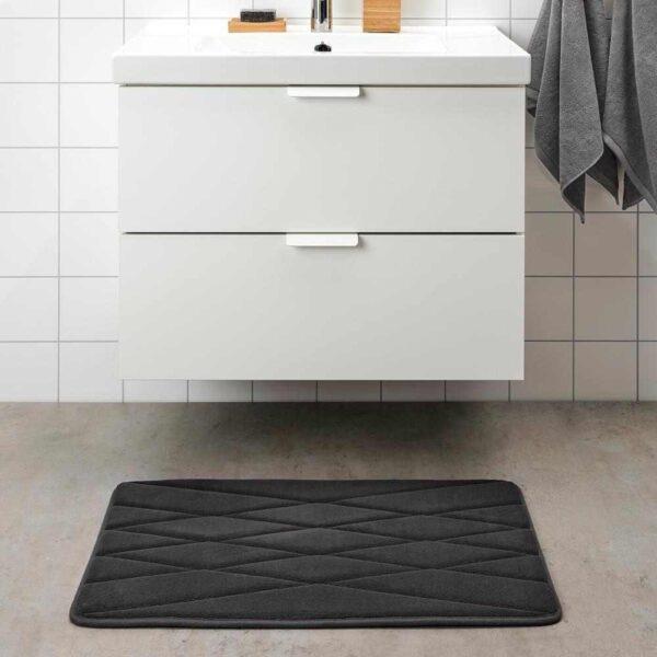 УППВАН Коврик для ванной, антрацит, 50x80 см - 604.556.29