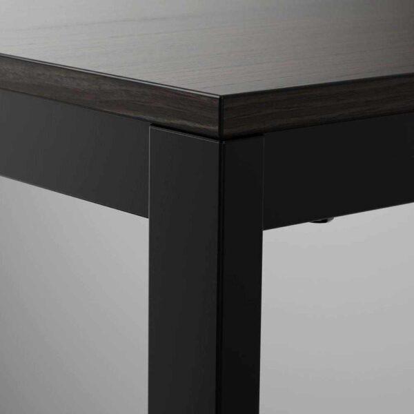 ВАНГСТА Раздвижной стол, черный, темно-коричневый, 80/120x70 см - 004.201.57