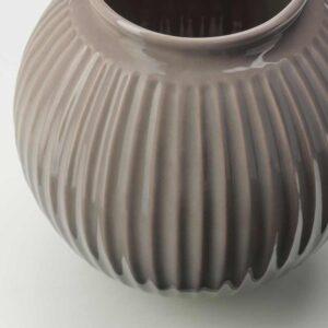 ВАНЛИГЕН Ваза, серый, 18 см - 204.518.31