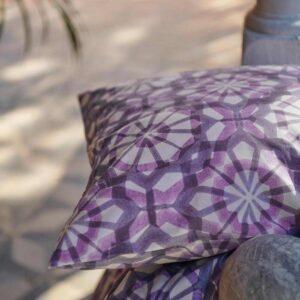 ВАТТЕНФРЭНЕ Пододеяльник и 1 наволочка, белый, фиолетовый, 150x200/50x70 см - 004.594.04