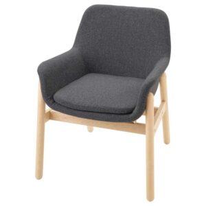 ВЕДБУ Легкое кресло, береза, Гуннаред классический серый - 704.180.14