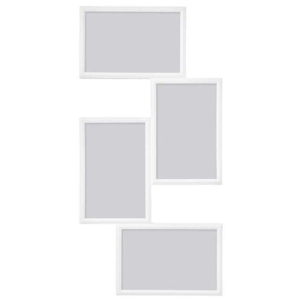 ЮЛЛЕВАД Рама для коллажа на 4фото, белый, 21x41 см - 504.252.75