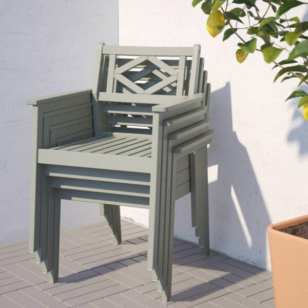 БОНДХОЛЬМЕН Стол+4 кресла, д/сада, серый морилка, ЙЭРПОН/дувхольмен антрацит - 193.305.43