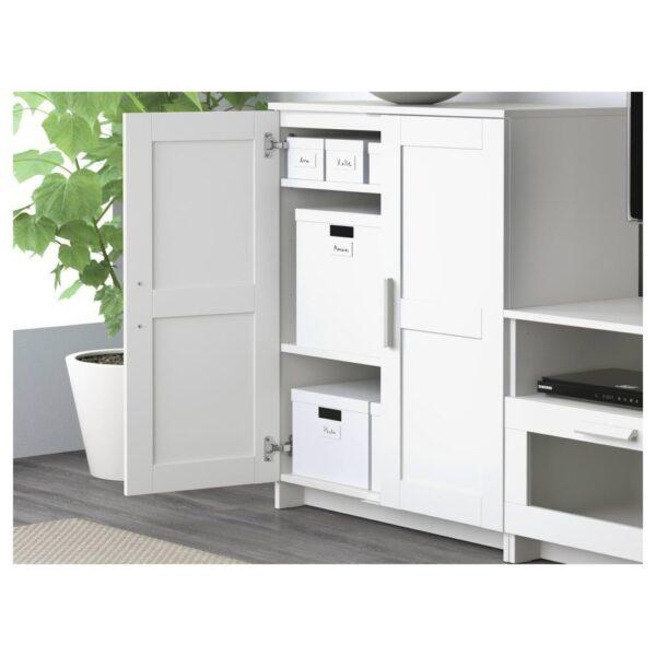 БРИМНЭС Шкаф для ТВ, комбинация, белый, 258x41x190 см - 593.966.50
