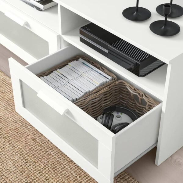 БРИМНЭС Шкаф для ТВ, комбинация, белый, 180x41x190 см - 993.966.53