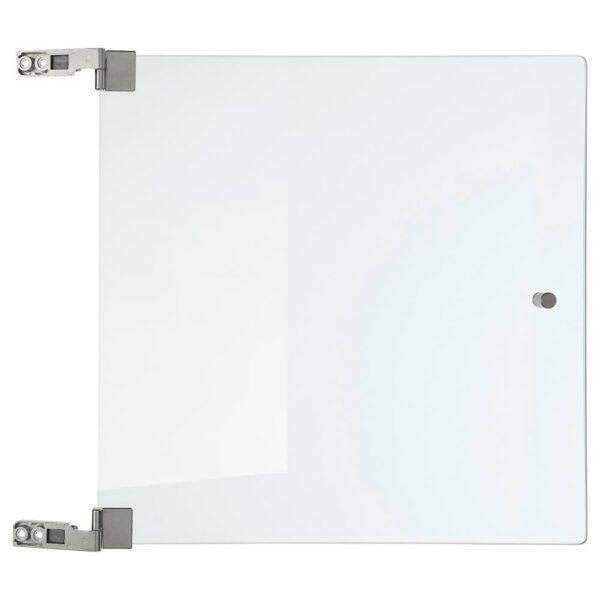 ЭКЕТ Стеклянная дверь, прозрачное стекло, 32x32 см - 404.289.10