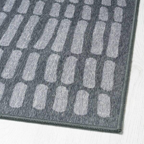 ОМТЭНКСАМ Ковер безворсовый, серый, 133x195 см - 004.694.55