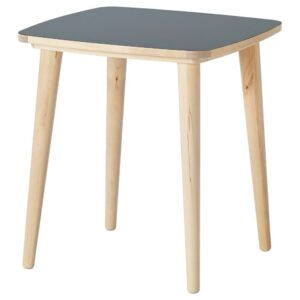ОМТЭНКСАМ Придиванный столик, антрацит, береза, 55x55 см - 504.693.92