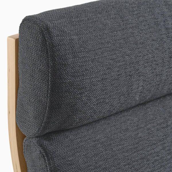ПОЭНГ Кресло, дубовый шпон, беленый, Хили темно-серый - 093.193.86