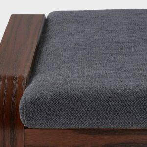 ПОЭНГ Табурет для ног, коричневый, Хили темно-серый - 593.194.02