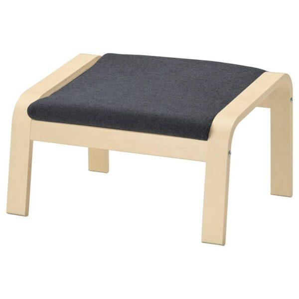 ПОЭНГ Табурет для ног, березовый шпон, Хили темно-серый - 793.193.97