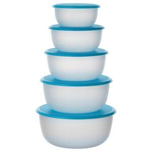 РЕДА Набор контейнеров, 5 шт., круглой формы синий голубой - 702.464.71