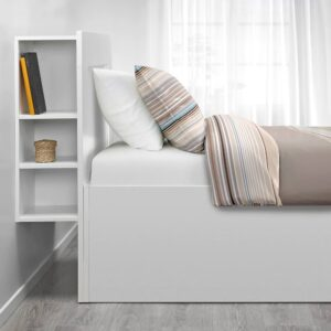 БРИМНЭС Кровать с подъемным механизмом, белый, 140x200 см - 593.988.90