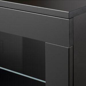 БРИМНЭС Навесной шкаф со стеклянной дверью, черный, 60x41 см - 704.852.30