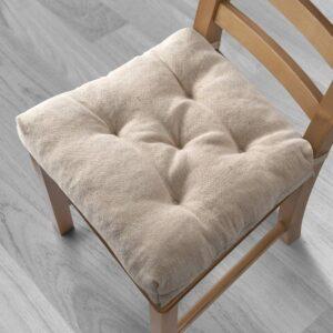 ЭТЛА Подушка на стул, неокрашенный, 40/35x38x7 см - 804.828.20