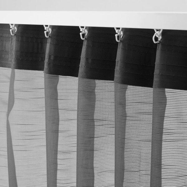 ГЕРТРУД Гардины, 2 шт., темно-серый, 145x300 см - 904.647.74