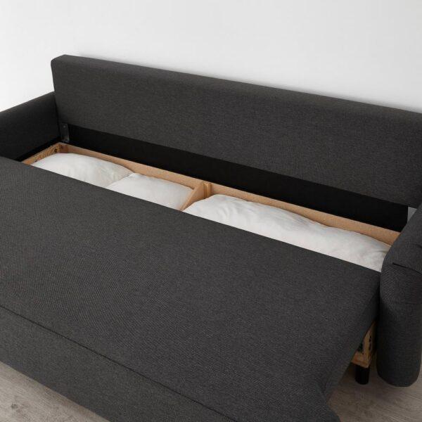 ГРИМХУЛЬТ 3-местный диван-кровать, Гуннаред темно-серый - 104.853.89