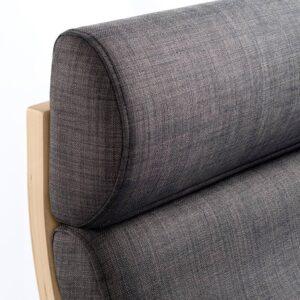 ПОЭНГ Кресло, дубовый шпон, беленый, Шифтебу темно-серый - 193.983.16