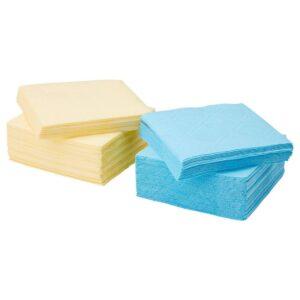 САМАРИТ Салфетка бумажная, желтый, синий, 24x24 см - 803.363.72