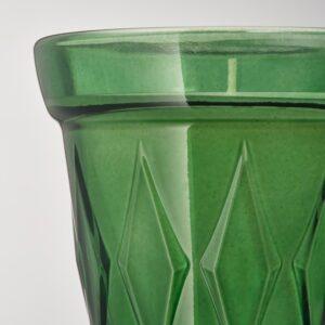 ВЭЛЬДОФТ Ароматическая свеча в стакане, темно-зеленый Тимьян, темно-зеленый, 8 см - 804.423.01