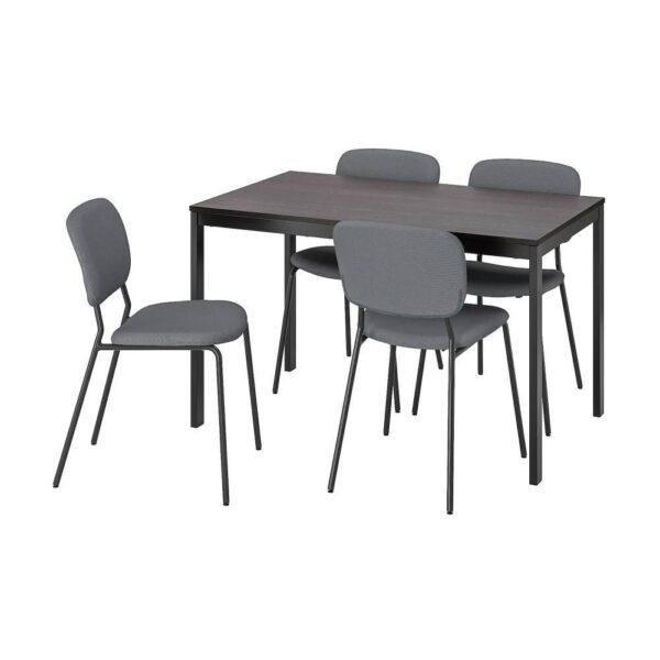 ВАНГСТА / КАРЛ-ЯН Стол и 4 стула 120/180 см - 993.887.66