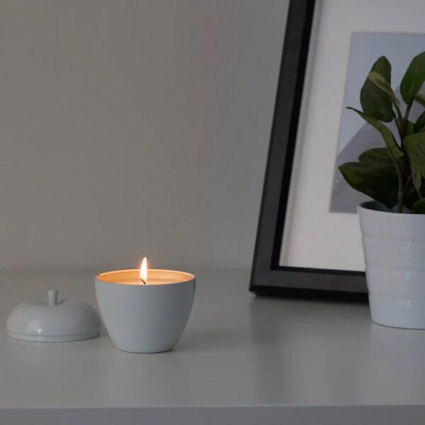 АНСПРОКСЛЁС Ароматическая свеча, alb, rosu bleu - 704.896.19