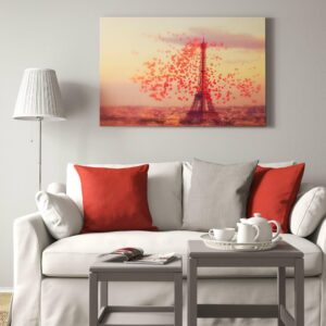 БЬЁРКСТА Картина с рамой, Эйфелева башня, цвет алюминия - 693.846.80