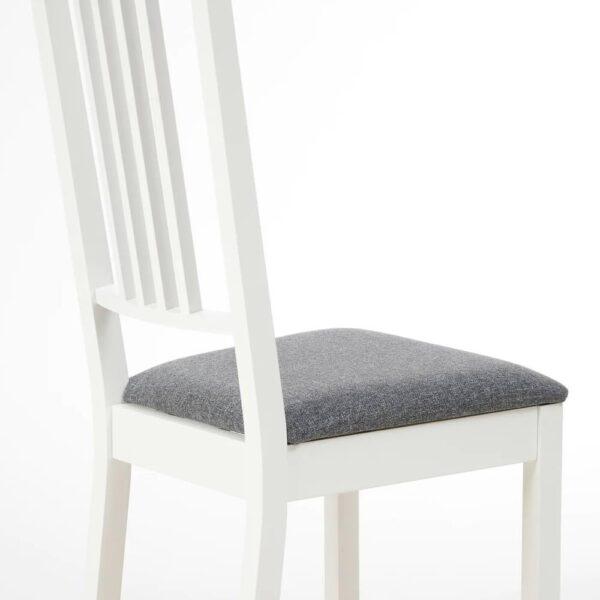 БЁРЬЕ Стул, белый, Гуннаред классический серый - 104.784.40