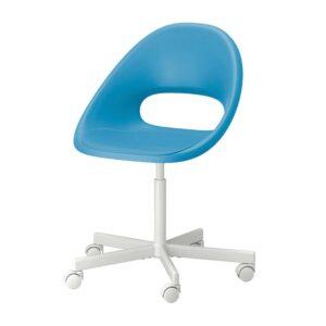 ЭЛДБЕРГЕТ / БЛИСКЭР Рабочий стул, синий, белый - 693.318.61