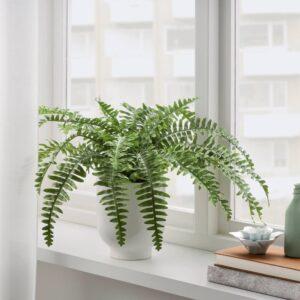 ФЕЙКА Искусственное растение в горшке, д/дома/улицы папоротник - 804.684.52