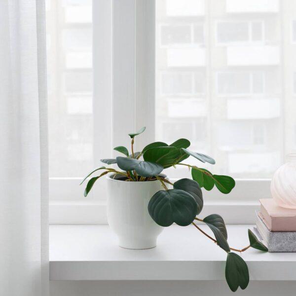 ФЕЙКА Искусственное растение в горшке, д/дома/улицы подвесной, Пеперомия - 704.684.43