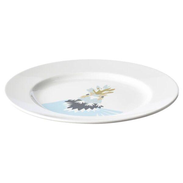 ХЕЛСТЕКТ Тарелка десертная, белый куриный - 304.708.48