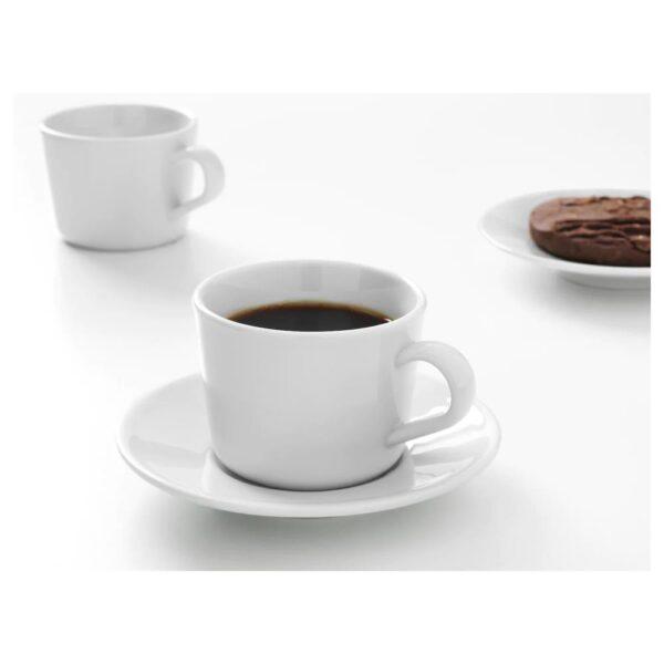ИКЕА/365+ Чашка с блюдцем, белый - 104.803.82