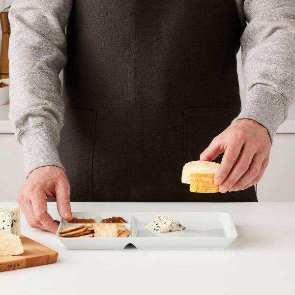 ИКЕА/365+ Тарелка с отделениями, белый - 404.334.31