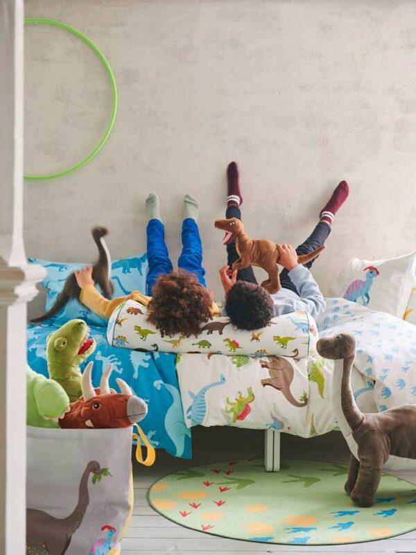 ЙЭТТЕЛИК Подушка, динозавр, разноцветный - 104.641.79